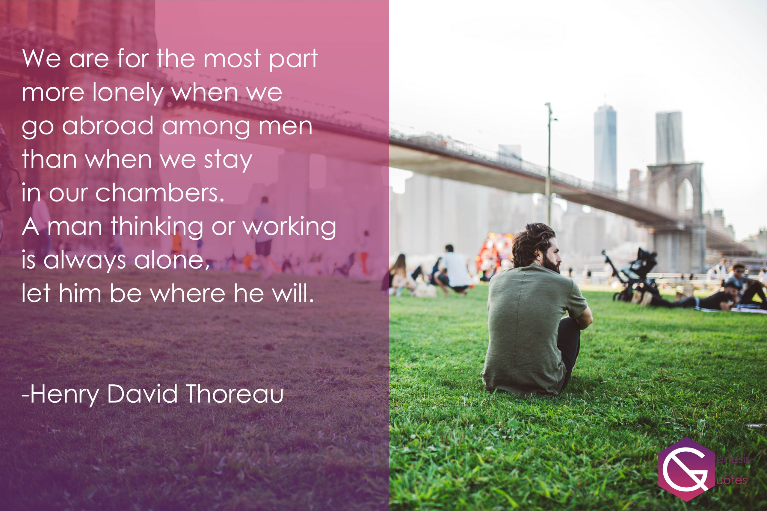 Henry David Thoreau- Alone Quotes